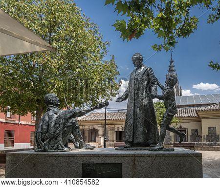 Toledo, Spain, July 2020 - Statue Of Pope John Paul Ii In The Ancient City Of Toledo, Spain