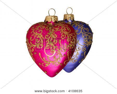 Two Christmas Hearts