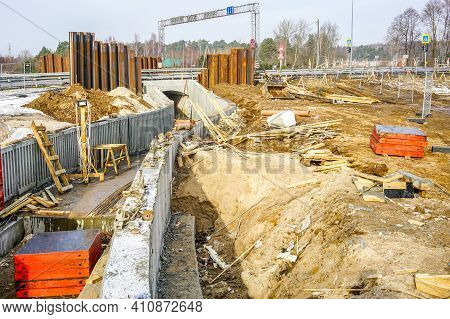 Use Of Concrete Formwork In The Construction Of A Pedestrian Tunnel Under The Motorway