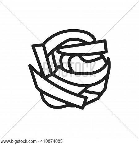 Original Italian Pasta Pappardelle Color Line Icon. Isolated Vector Element.
