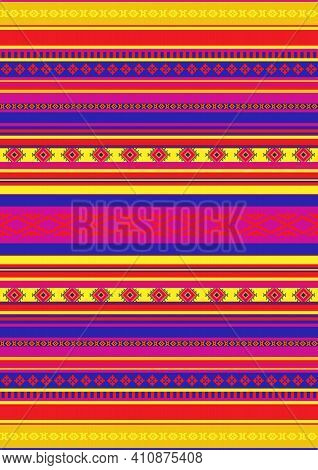 Ethnic Seamless Colorful Geometric Pattern. Traditional Ornament Background. Folk Ornamental Texture
