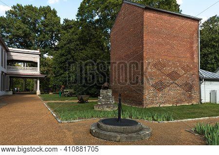 Vintage Two Story Brick Smokehouse On Plantation Property