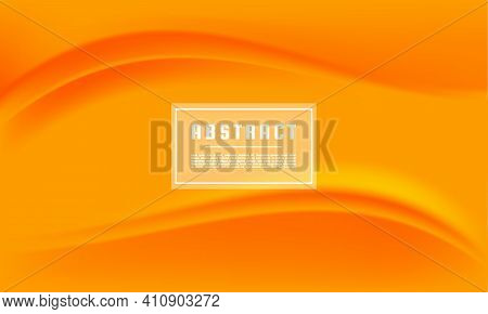 Dynamic Abstract Yellow Orange Texture Vector Background, Yellow Orange Liquid Wave Background