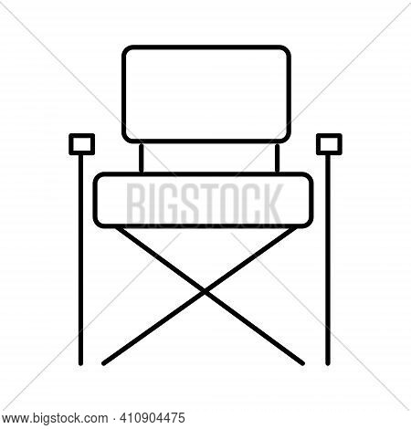 Folding Travel Chair Icon.folding Tourist Chair For Camping And Fishing.portable Chair. Vector Illus