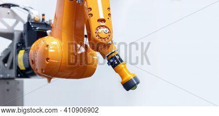 Automatic Manipulator Arm Robot For Programming. Modern Industrial Technology Mechanical Hand