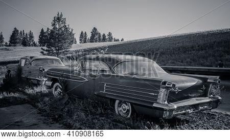 Abandoned Car Rural Scene From Palouse, Washington.