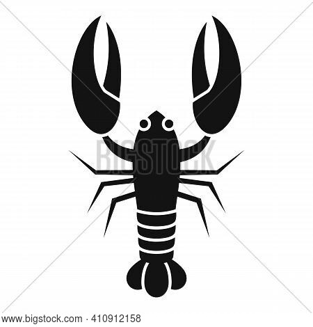 Sea Lobster Icon. Simple Illustration Of Sea Lobster Vector Icon For Web Design Isolated On White Ba