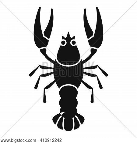 Organic Lobster Icon. Simple Illustration Of Organic Lobster Vector Icon For Web Design Isolated On