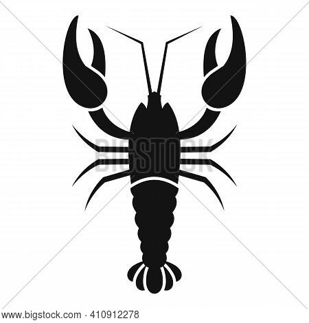 Seafood Lobster Icon. Simple Illustration Of Seafood Lobster Vector Icon For Web Design Isolated On