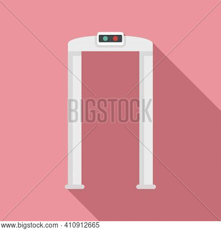 Arch Metal Detector Icon. Flat Illustration Of Arch Metal Detector Vector Icon For Web Design