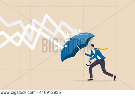 Protection Or Defensive Stock In Economy Crisis Or Market Crash, Business Resilient To Survive Diffi