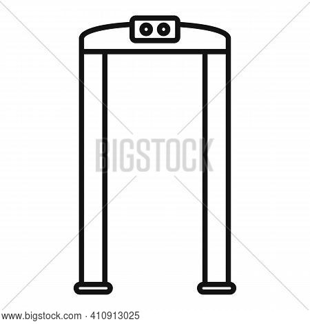 Arch Metal Detector Icon. Outline Arch Metal Detector Vector Icon For Web Design Isolated On White B