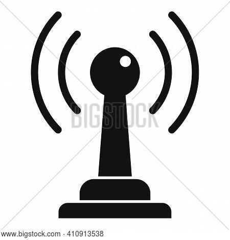 Radio Antenna Icon. Simple Illustration Of Radio Antenna Vector Icon For Web Design Isolated On Whit
