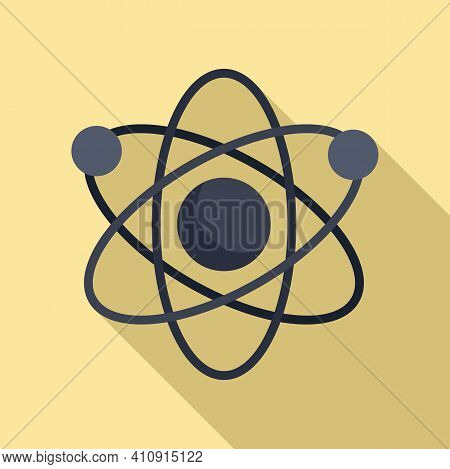 Nanotechnology Atom Icon. Flat Illustration Of Nanotechnology Atom Vector Icon For Web Design