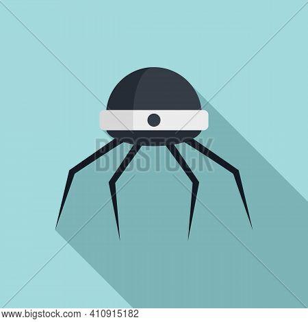 Nanotechnology Microchip Icon. Flat Illustration Of Nanotechnology Microchip Vector Icon For Web Des