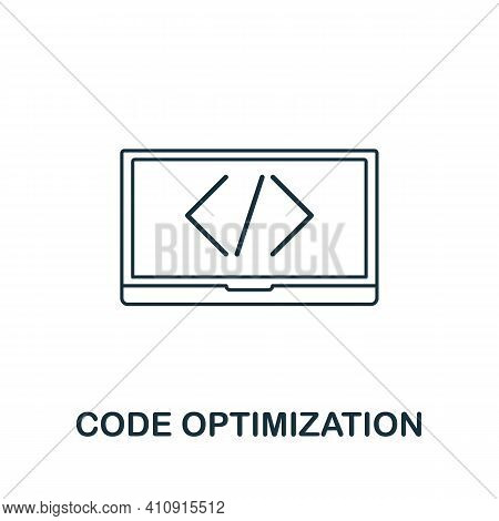 Code Optimization Vector Icon Symbol. Creative Sign From Seo And Development Icons Collection. Fille