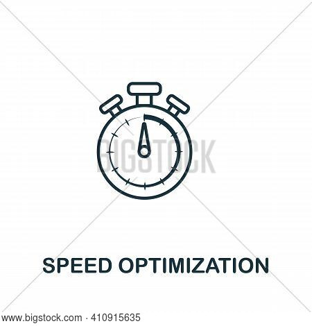 Speed Optimization Vector Icon Symbol. Creative Sign From Seo And Development Icons Collection. Fill