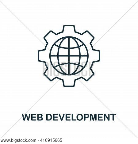 Web Development Vector Icon Symbol. Creative Sign From Seo And Development Icons Collection. Filled