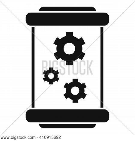 Cylinder Nanotechnology Icon. Simple Illustration Of Cylinder Nanotechnology Vector Icon For Web Des