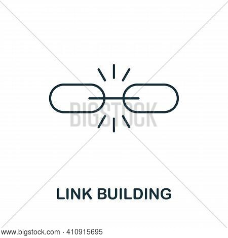 Link Building Vector Icon Symbol. Creative Sign From Seo And Development Icons Collection. Filled Fl
