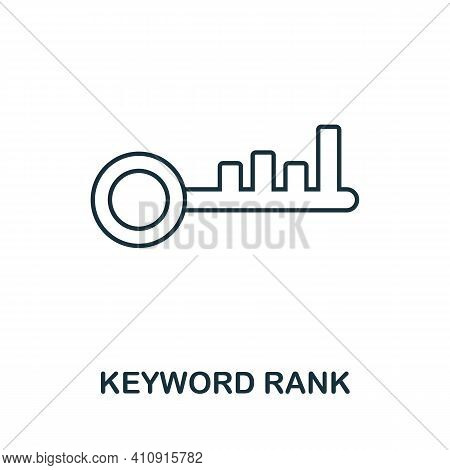 Keyword Rank Vector Icon Symbol. Creative Sign From Seo And Development Icons Collection. Filled Fla