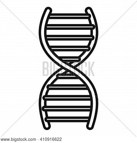 Nanotechnology Dna Icon. Outline Nanotechnology Dna Vector Icon For Web Design Isolated On White Bac