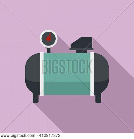 Generator Air Compressor Icon. Flat Illustration Of Generator Air Compressor Vector Icon For Web Des