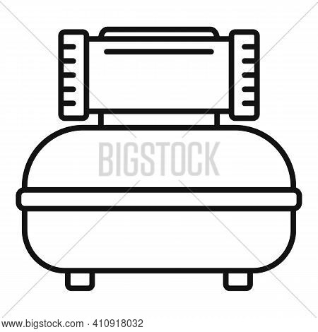 Car Air Compressor Icon. Outline Car Air Compressor Vector Icon For Web Design Isolated On White Bac