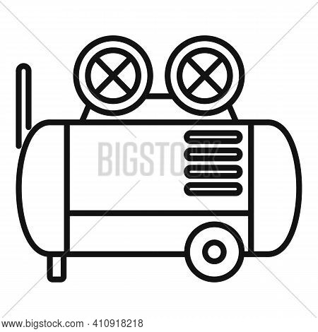 Construction Air Compressor Icon. Outline Construction Air Compressor Vector Icon For Web Design Iso