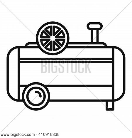 Paint Air Compressor Icon. Outline Paint Air Compressor Vector Icon For Web Design Isolated On White