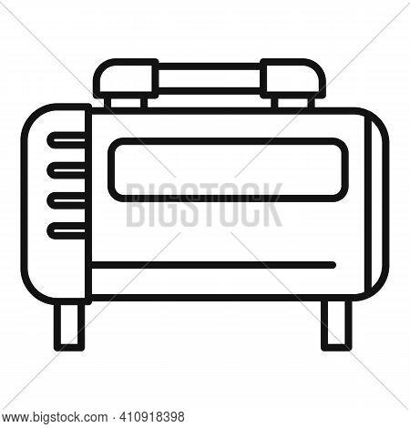 Generator Air Compressor Icon. Outline Generator Air Compressor Vector Icon For Web Design Isolated
