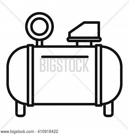 Power Air Compressor Icon. Outline Power Air Compressor Vector Icon For Web Design Isolated On White