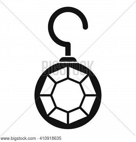 Diamond Earrings Icon. Simple Illustration Of Diamond Earrings Vector Icon For Web Design Isolated O