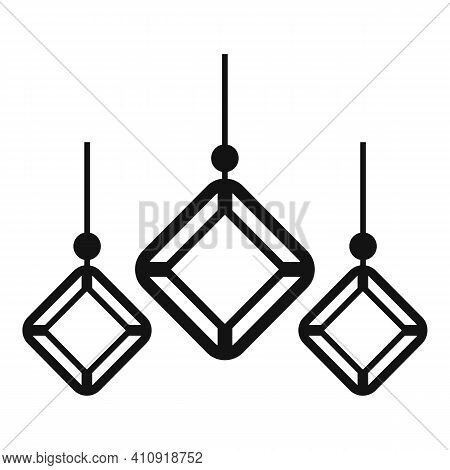 Gemstones Earrings Icon. Simple Illustration Of Gemstones Earrings Vector Icon For Web Design Isolat