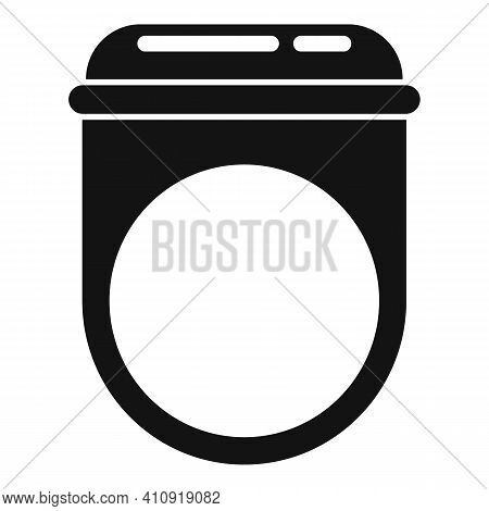 Ruby Ring Icon. Simple Illustration Of Ruby Ring Vector Icon For Web Design Isolated On White Backgr