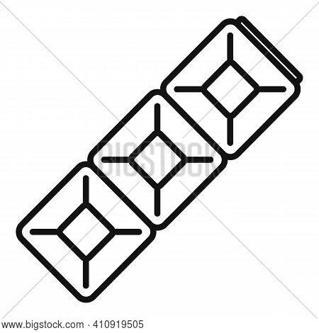 Gemstone Bracelet Icon. Outline Gemstone Bracelet Vector Icon For Web Design Isolated On White Backg