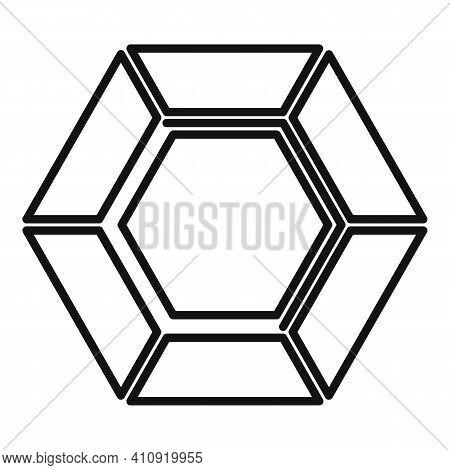Karat Diamond Icon. Outline Karat Diamond Vector Icon For Web Design Isolated On White Background