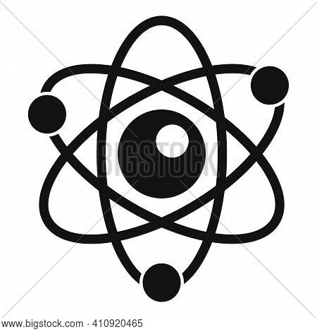 Atom Energy Icon. Simple Illustration Of Atom Energy Vector Icon For Web Design Isolated On White Ba