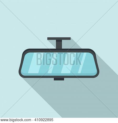 Car Indoor Mirror Icon. Flat Illustration Of Car Indoor Mirror Vector Icon For Web Design