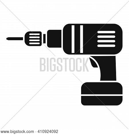 Electric Drill Icon. Simple Illustration Of Electric Drill Vector Icon For Web Design Isolated On Wh