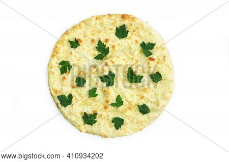 Focaccio With Parsley Isolate Tortilla With Cheese