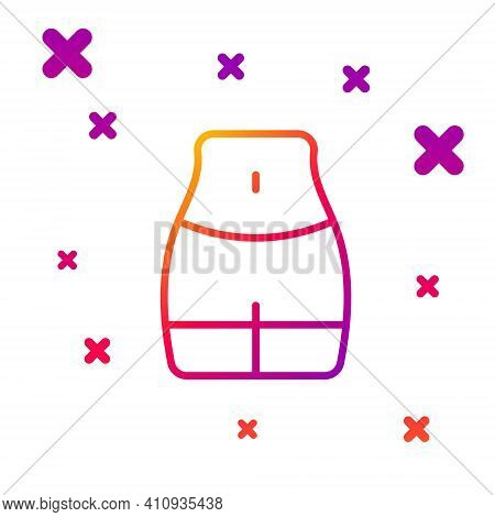 Color Line Women Waist Icon Isolated On White Background. Gradient Random Dynamic Shapes. Vector