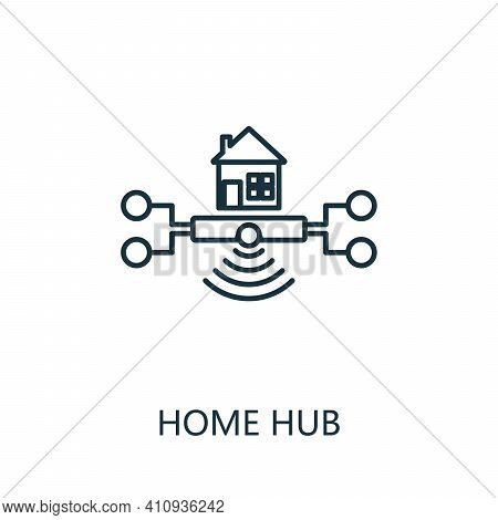 Home Hub Outline Icon. Thin Line Style From Smart Home Icons Collection. Pixel Perfect Simple Elemen
