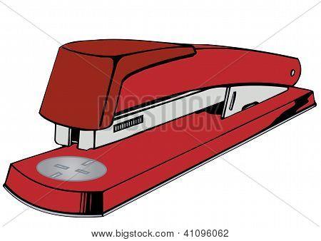 Vector Illustration A Red Stapler