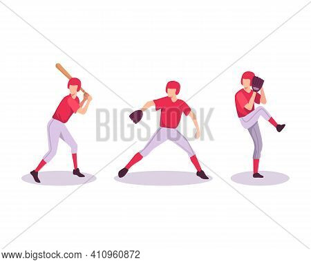 Baseball Sport Athlete Illustration Concept