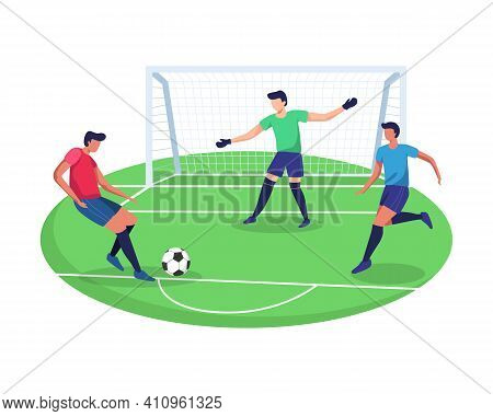 Illustration Concept Of Playing Soccer Sport