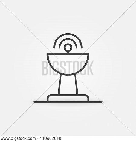 Antenna Linear Vector Concept Icon Or Logo Element
