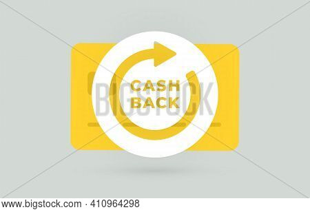 Cashback Money Refund And Rewards Program Flat Vector Concept. Loyalty Program And Retail Customer M