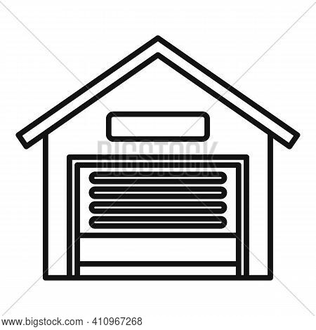 Car Service Garage Icon. Outline Car Service Garage Vector Icon For Web Design Isolated On White Bac