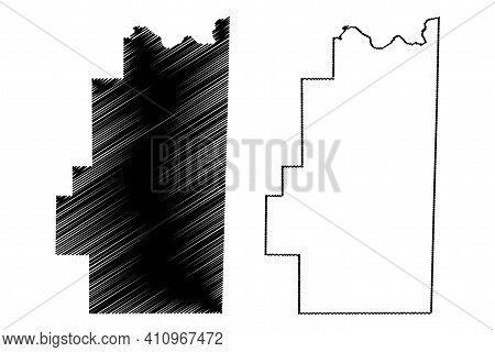 Le Flore County, Oklahoma State (u.s. County, United States Of America, Usa, U.s., Us) Map Vector Il